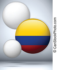 Colombia Flag Glossy Button