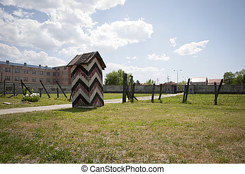 Concentration camp in Nis, Serbia - Guards house in...