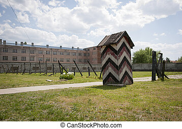 Concentration camp in Nis, Serbia - Guard's house in...