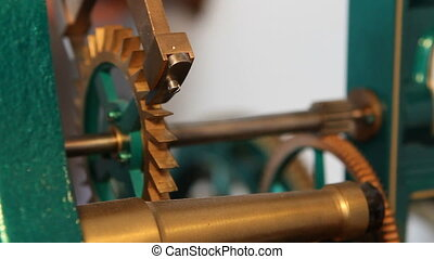 Antique Clock Gears - Gears turn and levers move to the beat...