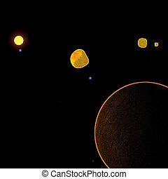 Distant glowing planet