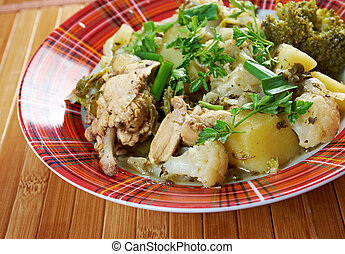 french stewed potatoes with chicken.Vegetable Stew.herbes de...