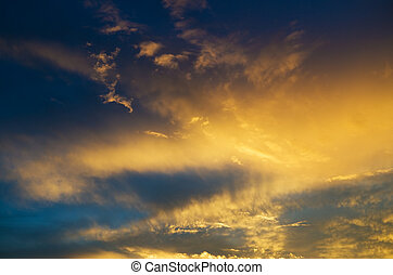 Sky background on sunrise.