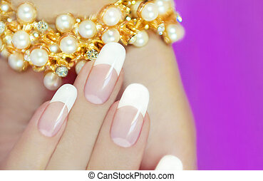 French beautiful manicures. - French beautiful manicures...