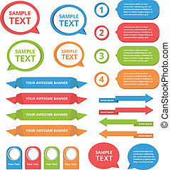 text box templates vector