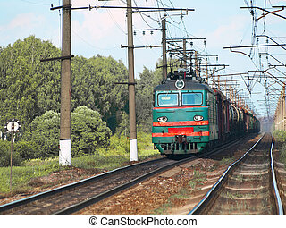 freight train - electric locomotive