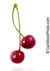 cherry - 2 wet cherries