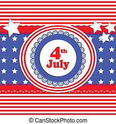 independence day card in scrapbook style - vector seamles...