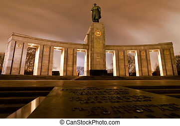 Soviet War Memorial in Berlin Tiergarten honoring Soviet...
