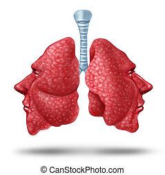 comprensión, pulmón, salud