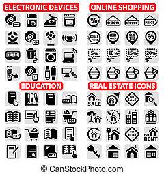 big vector icons set