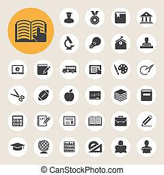 Education icons set. Illustration eps 10