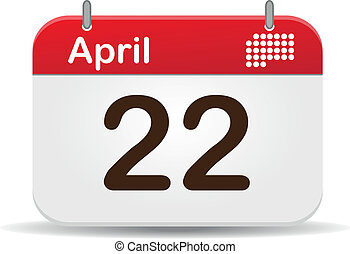 Calendar - 22 April Calendar,earth day! Holiday
