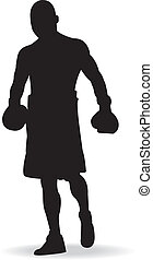 Boxing -  Boxing men,vector illustration.