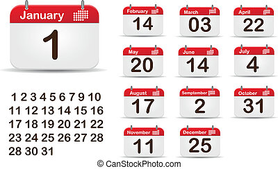 2013 Vector Calendar - Monthly Calendar Editable EPS 10...