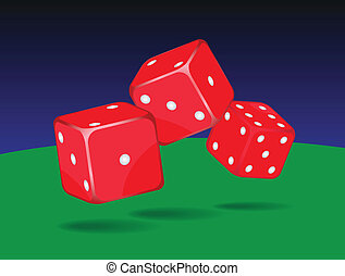 Dices - Casino dices on white background.