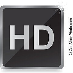 HD glossy icon,vector illustration