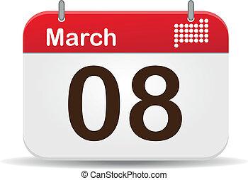Calendar - 08 March Calendar,Woman´s Day