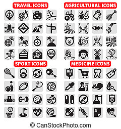 big icons vector set