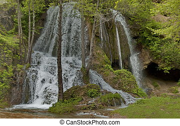 Bigar river waterfall, Serbia - River Bigar in Serbia -...
