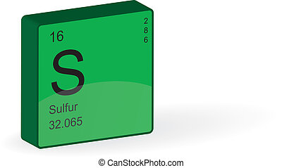 Sulfur Element,vector illustration