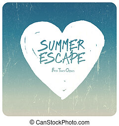 Summer travel illustration Vector
