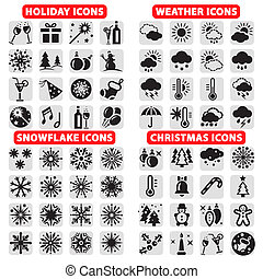 big set of vector icons - Elegant Vector Holiday, Christmas,...