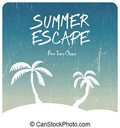 Summer travel illustration. Vector