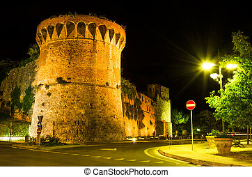 San Francisco bastion, San Gimignano, Tuscany - Night at San...