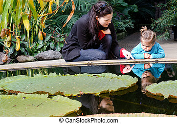 Auckland Botanical Gardens - AUCKLAND,NZ - May 26:Mother and...