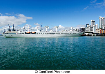 Chinese navy ship - AUCKLAND,NZ - May 26:The Yuan Wang 6...