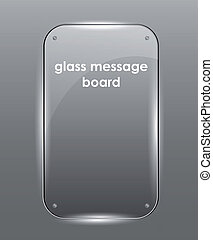 Beautiful vector glass frame - Beautiful vector glossy glass...