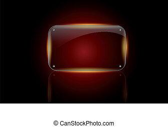 Beautiful vector glass frame - Beautiful vector glossy glass...
