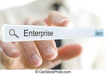 Word Enterprise written in search bar