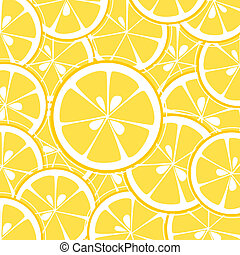 lemon slices background vector illustration