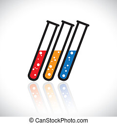 Concept vector graphic- abstract colorful medical lab...