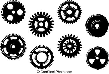 Set of gears and pinions