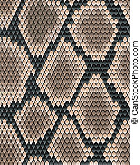 Seamless pattern of snake skin for background design