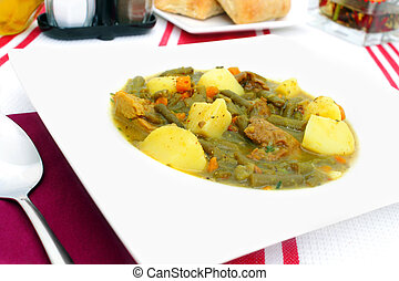 Pichelsteiner - bavarian stew mit meat and vegetables