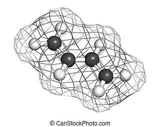 Butadiene (1,3-butadiene), the building block of ABS plastic...