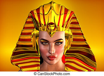 The Face Of Egypt - This is a romanticized portrait of the...