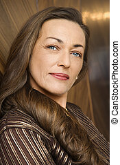 Beautiful woman portrait - Portrait of prime adult Caucasian...