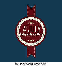 4th July symbol on blue background