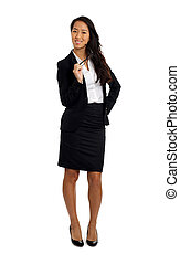 Asian Business Woman with glasses - Formal Asian Business...