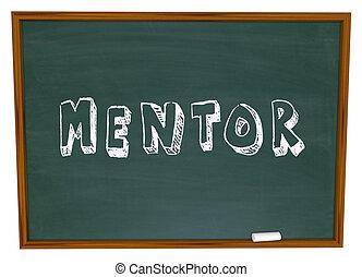 Mentor Word Chalkboard Training School Teacher Learning
