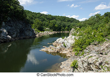 Great Falls Virginia - Placid water at Great Falls Virginia...