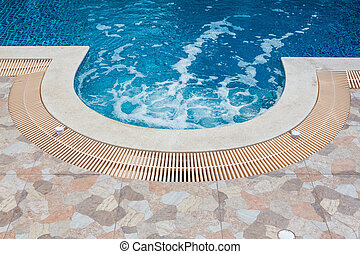 Swimming pool - Jacuzzi water circulation in beautiful...