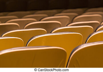 Theater seat back - Theater seats in rows from back view