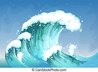 A very big wave  - Illustration of a very big wave