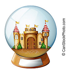 A palace inside the crystal ball - Illustration of a palace...